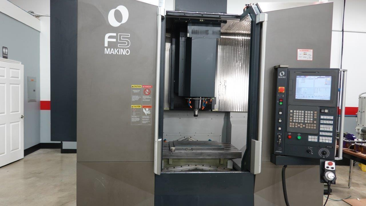"""Makino F5 CNC Vertical Machining Center, Fanuc Pro 5, 20K Spindle, 30 ATC, 35""""/20""""/18"""" Travels, HSK63A, Probe, Low Hrs, Ballbar Test Avail., 2015"""