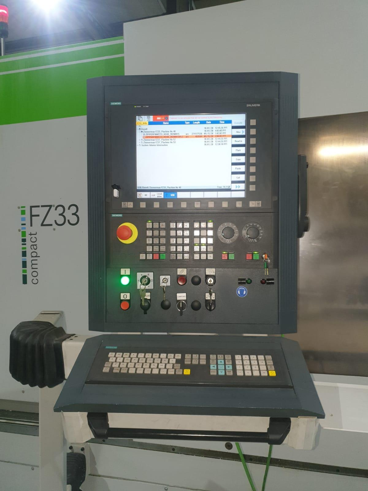 Zimmerman FZ33C CNC 5 axis Bridge Mill
