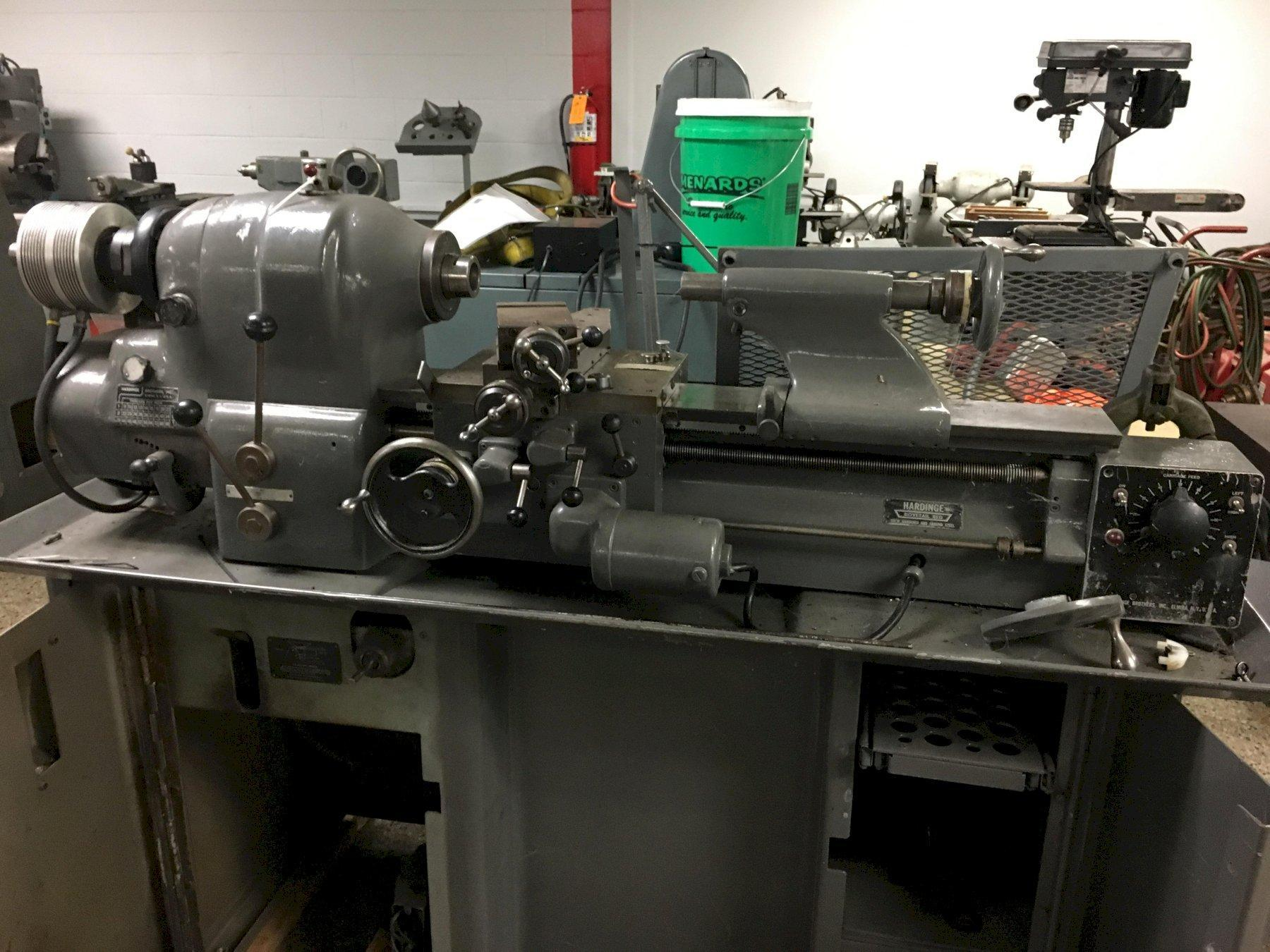 "11"" x 18"" Hardinge Model HLV Precision Toolroom Lathe with Dunham Pneumatic 5C Closer, New Approx 1950. Offered as is. Needs Work."