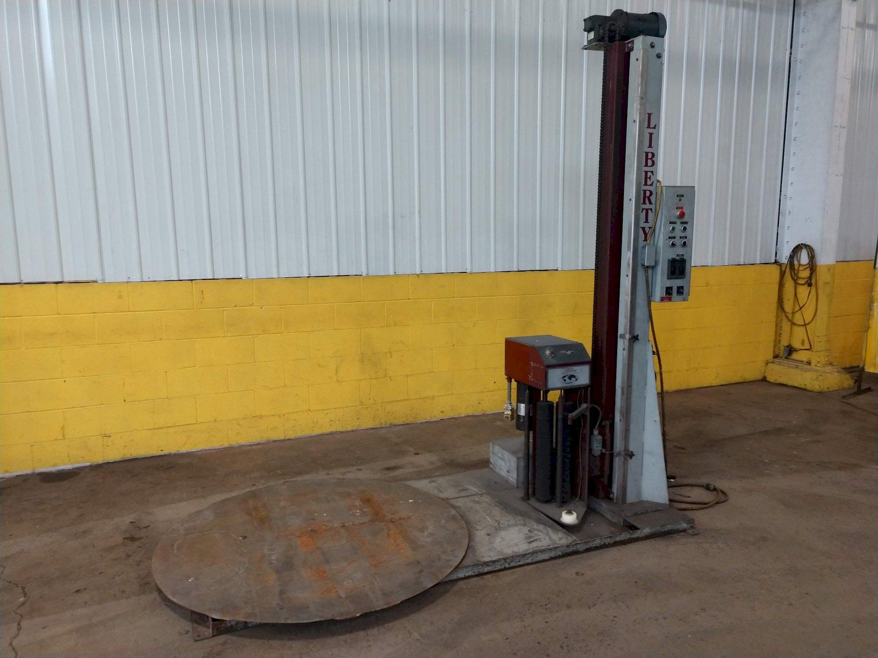 """4000 LB X 48"""" LIBERTY INDUSTRIES SERIES 500 PLUS ROTARY TABLE STRETCH WRAPPER"""