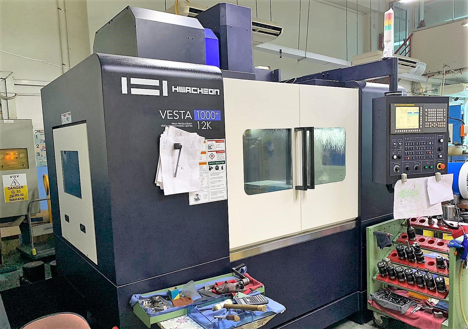 HWACHEON VESTA 1000+ CNC 3-AXIS VERTICAL MACHINING CENTER