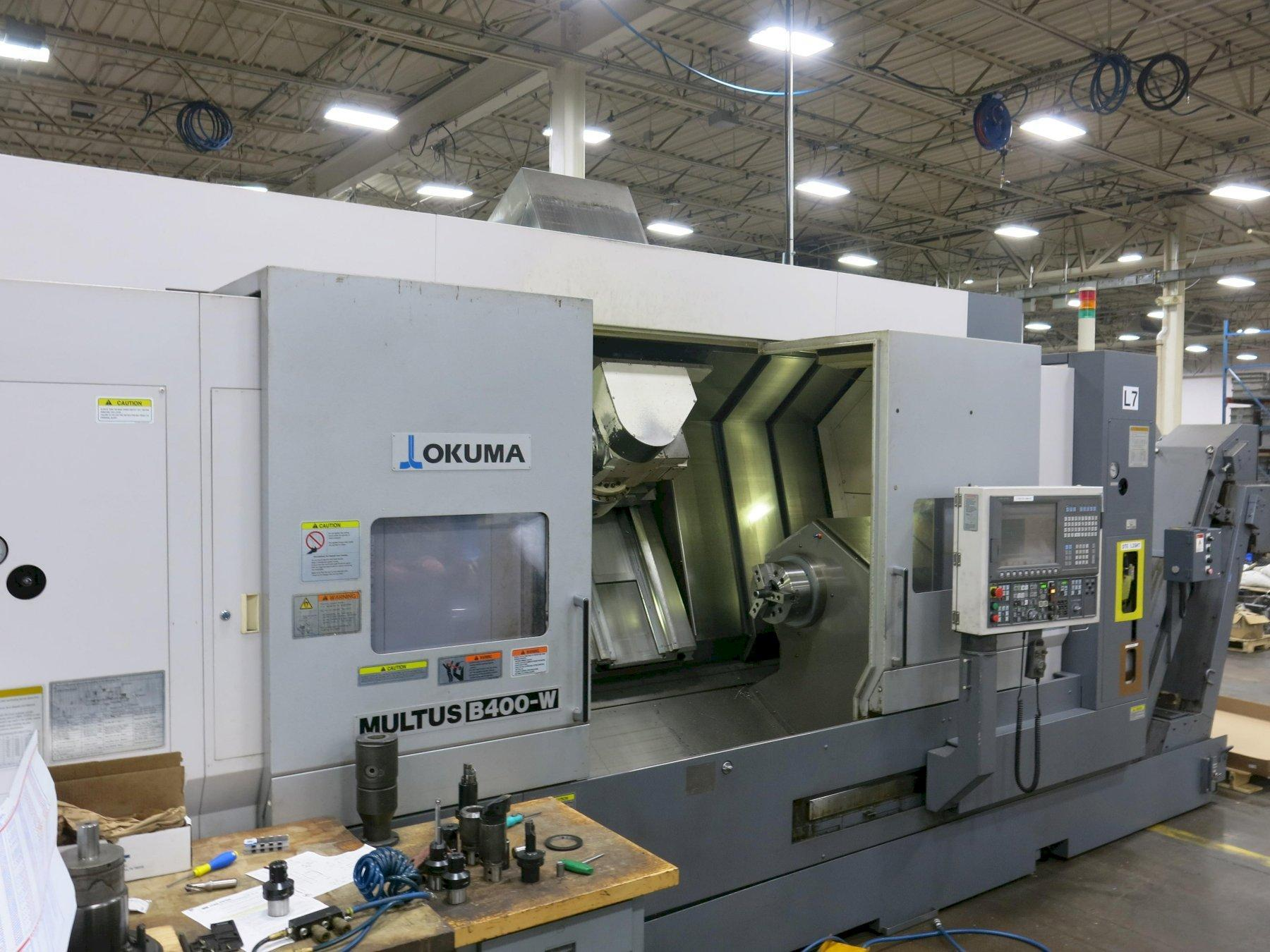 Okuma Multus B-400-W 1500 Mill Turn CNC Lathe, ONLY 2900 cutting hours, New 2011