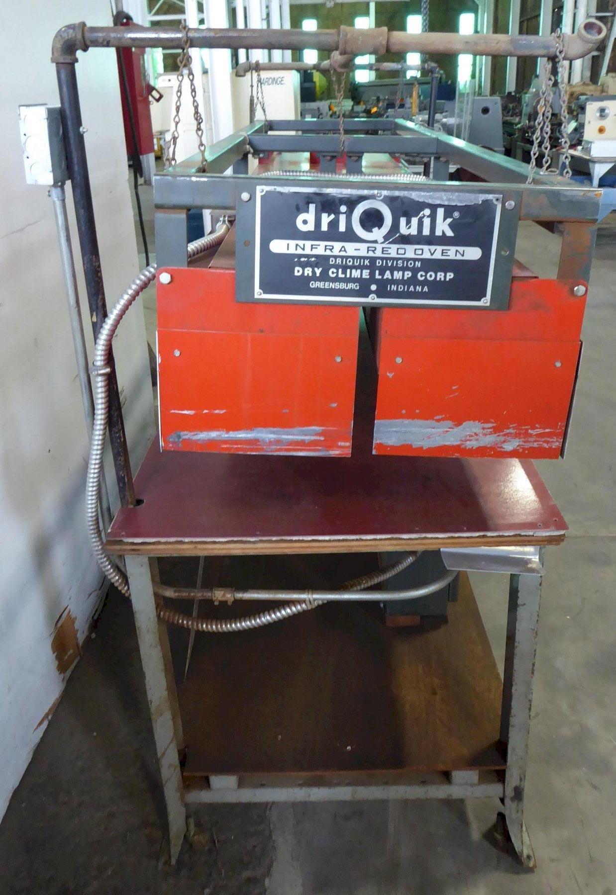 "driQuik Infra-Red Oven, (16 Generators), 22-1/2"" x 84-1/2"", 8 KW, 240 Volt 3 Phase, Temp. Controller"