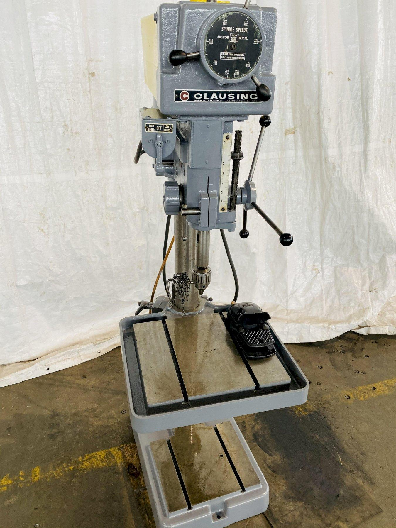"20"" CLAUSING MODEL 2277 VARIABLE SPEED DRILL PRESS. STOCK # 1161620"