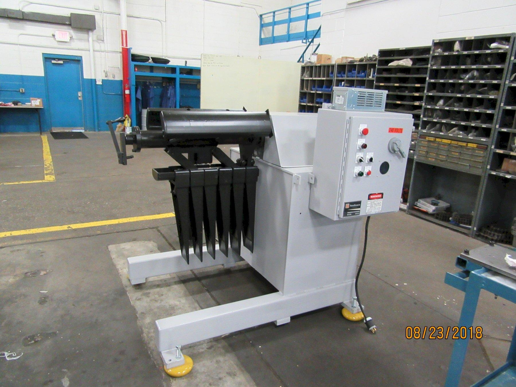 Feed Lease Motorized Coil Reel Uncoiler 6,000 Lb