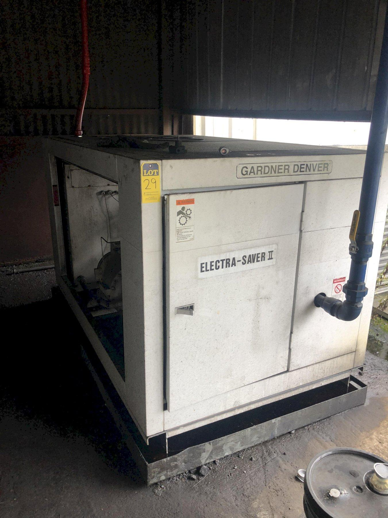 2007 GARDNER DENVER MODEL EE499D ELECTRASAVER II 150HP AIR COOLED AIR COMPRESSOR S/N 5000471, 39010 HOURS