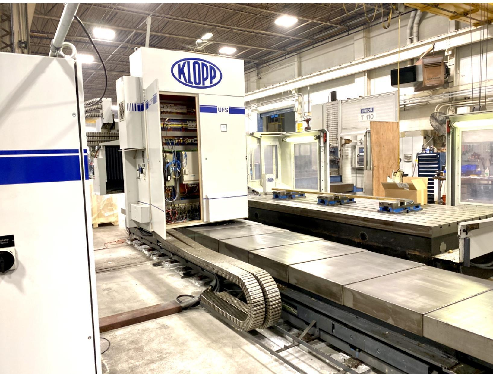 USED KLOPP CNC FLOOR TYPE UNIVERSAL MILLING MACHINE (German made) Model: UFS 1000
