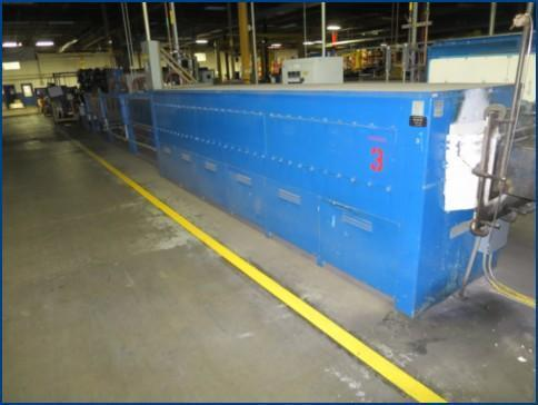 """12"""" C.I. HAYES COPPER AND BRASS STRIP ANNEALING LINE   Our stock number: 113619"""