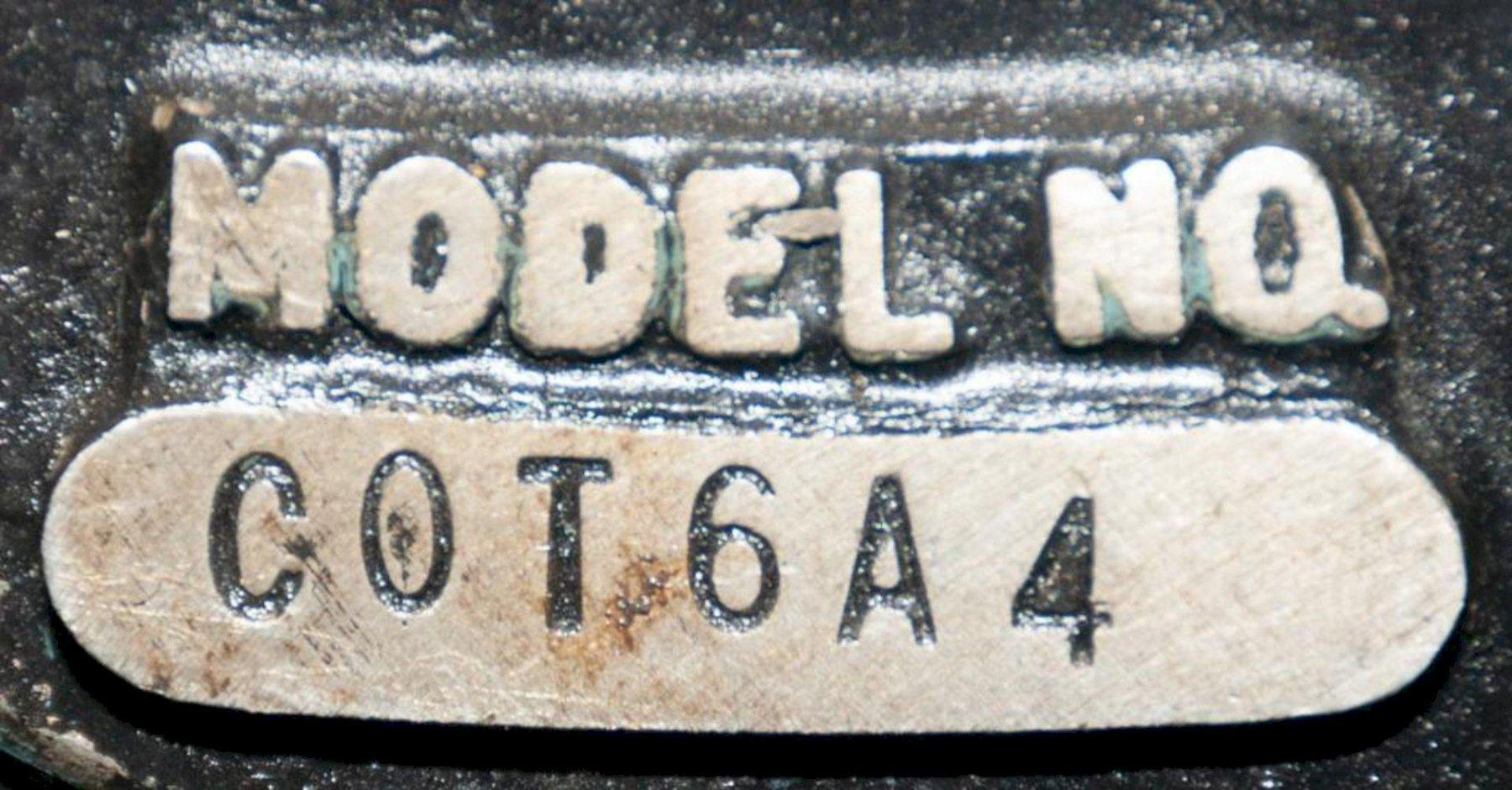 TISHKEN MODEL #COR6A4 6-WAY ADJUSTABLE CUTOFF PRESS: STOCK #15341