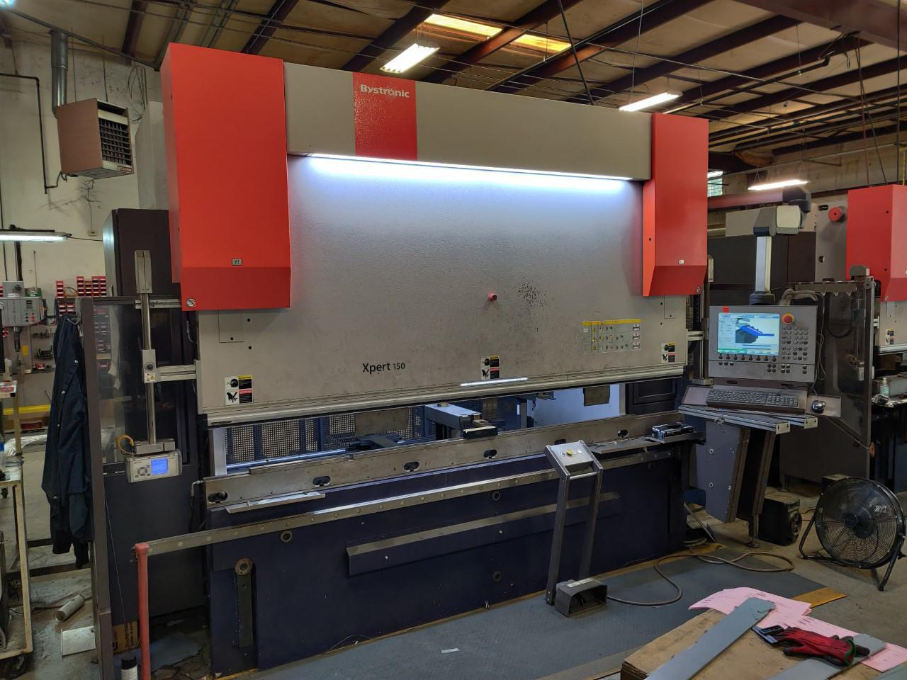 2012 Bystronic Xpert 150, 10' x 150 Ton, 6 Axis CNC Back Gauges