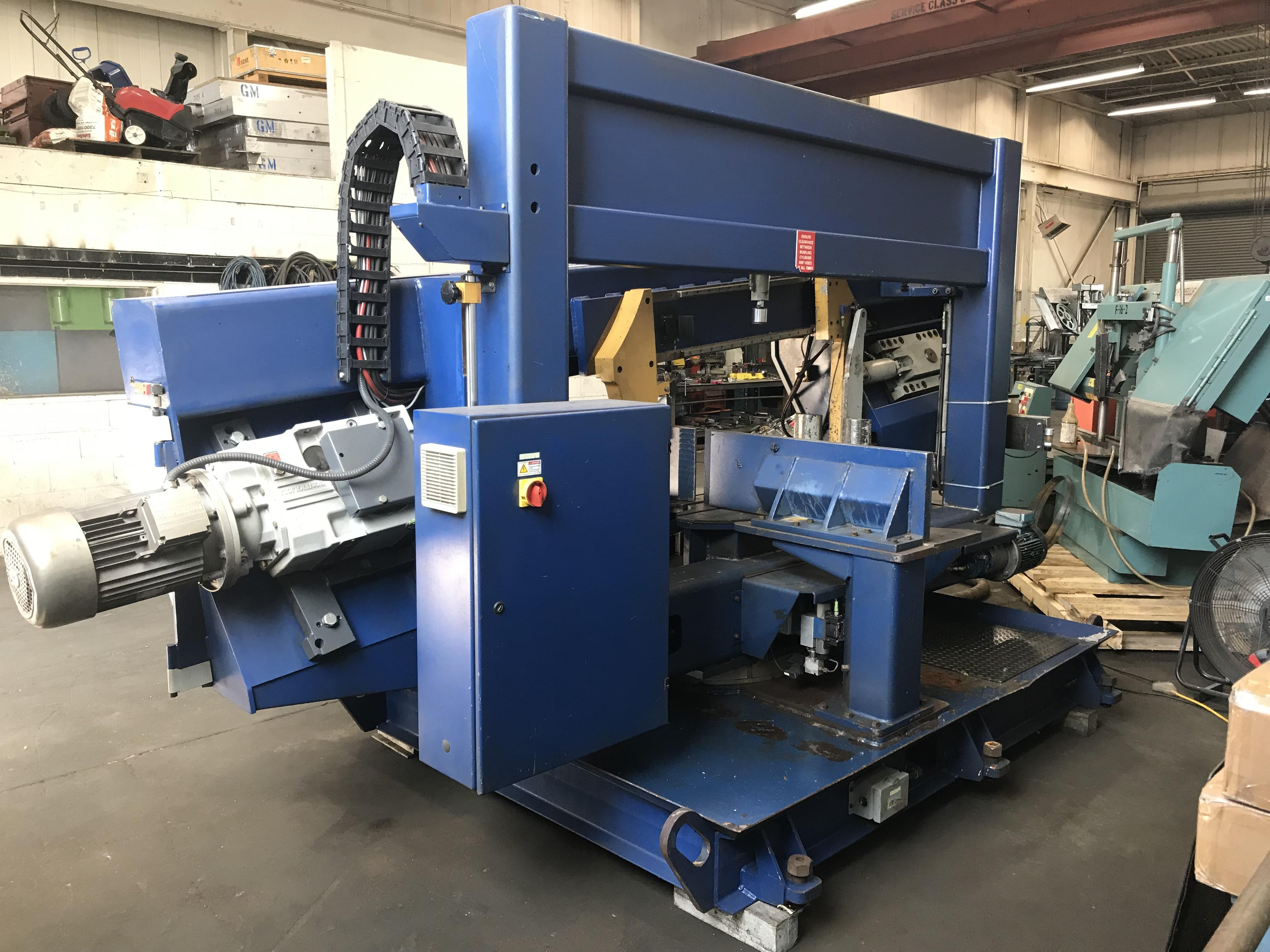 "USED OCEAN / HYD-MECH DCM 20/30 HORIZONTAL DUAL MITERING BANDSAW, 20"" x 30"", 2005, Stock No. 10561"