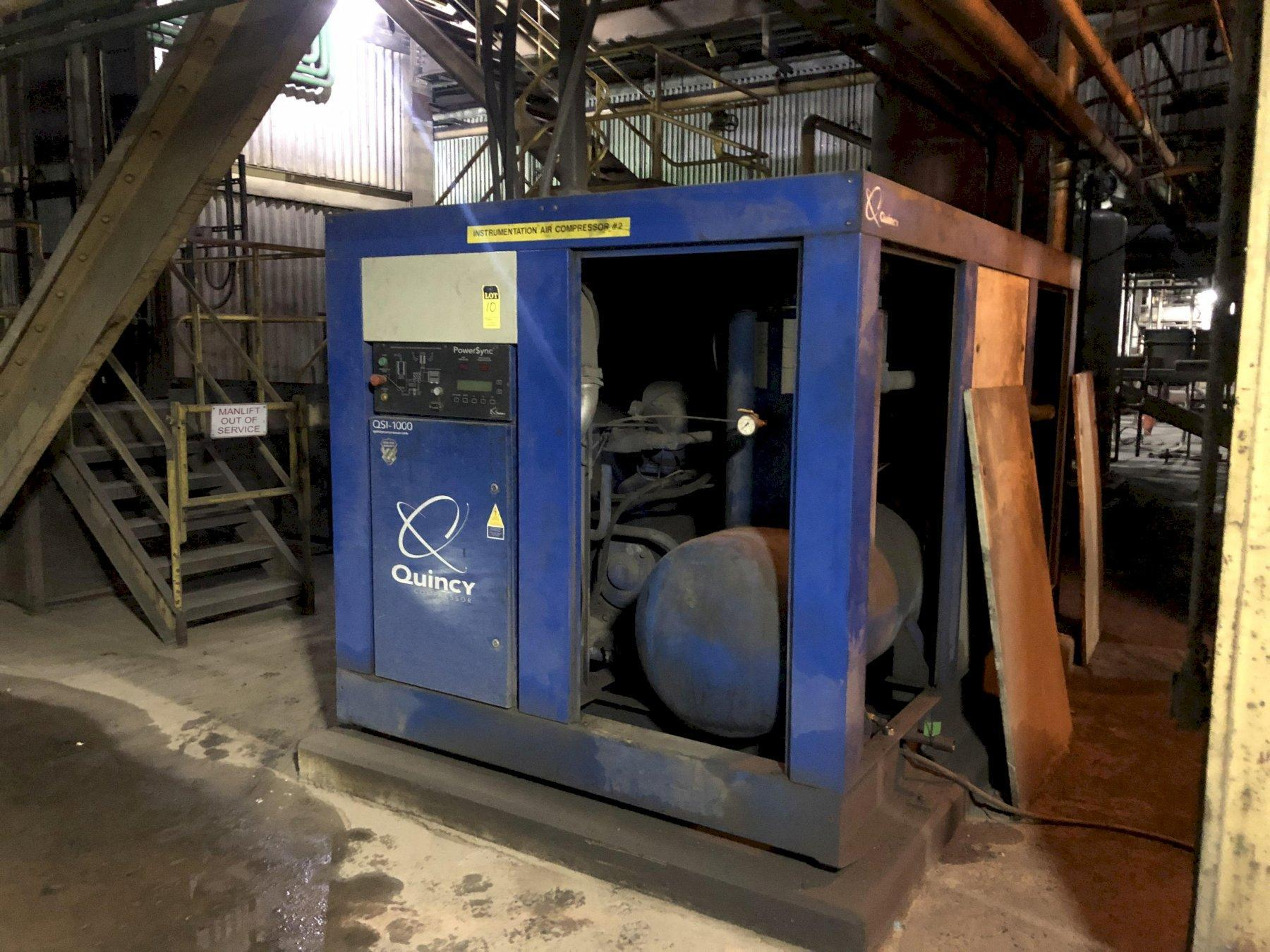 2008 Quincy model QSI-1000 screw type air compressor s/n bu0810240068 rated at 300 hp, power sync, 24015 hours