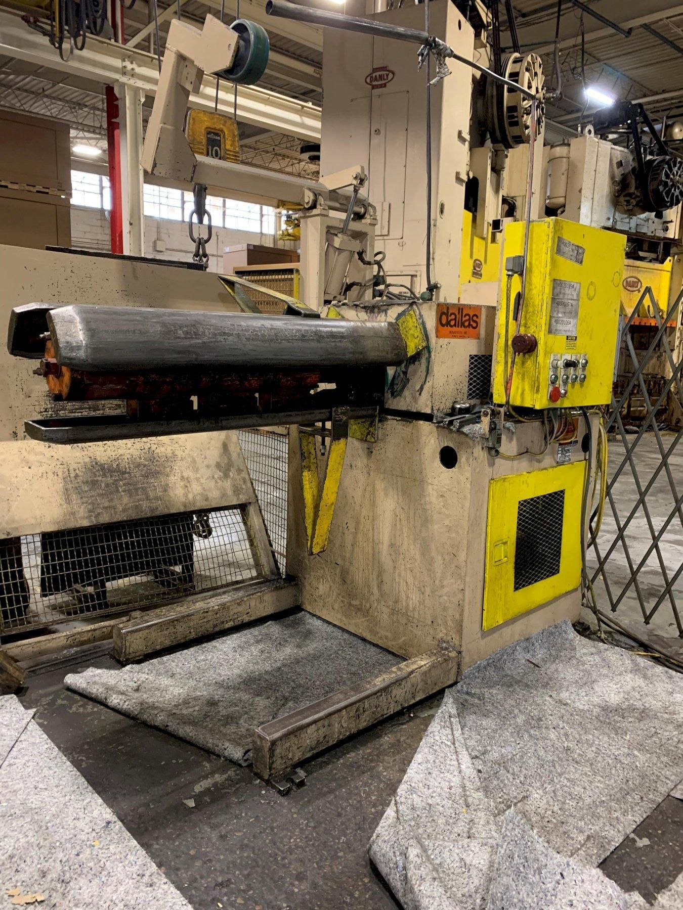 Dallas Ind. Motorized Coil Reel Uncoiler 20,000 Lbs.