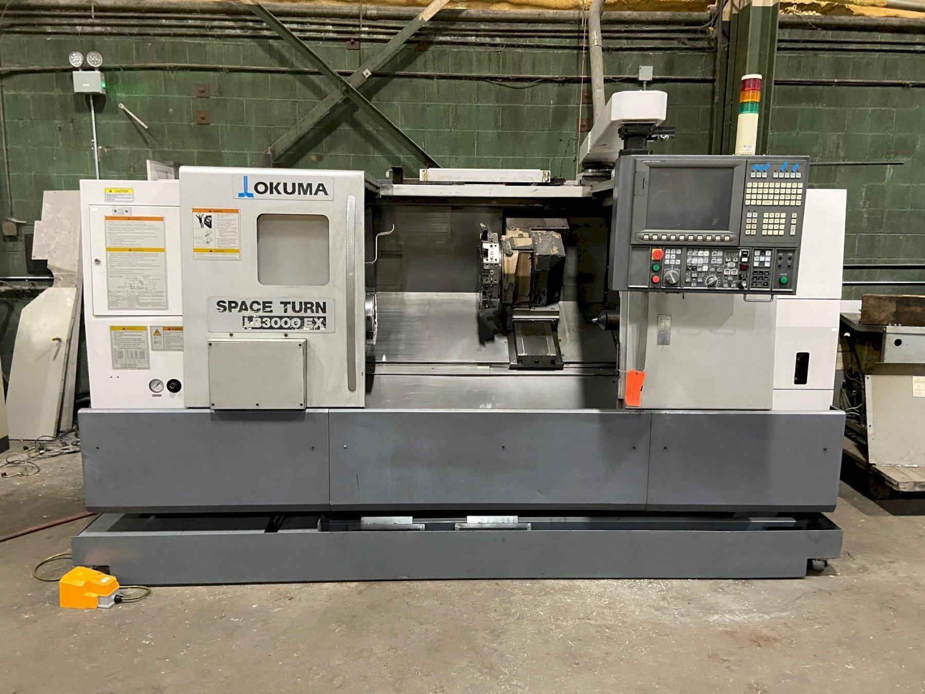 "Okuma LB-3000EX C-1000 Spaceturn CNC Lathe, OSP P200LA, 12"" Chuck, 3.125"" Bar Capacity, 40"" Centers, 22.83"" Swing, Prog Tailstock, Tool Eye, Holders,  2011-2013 (3 Avail)"