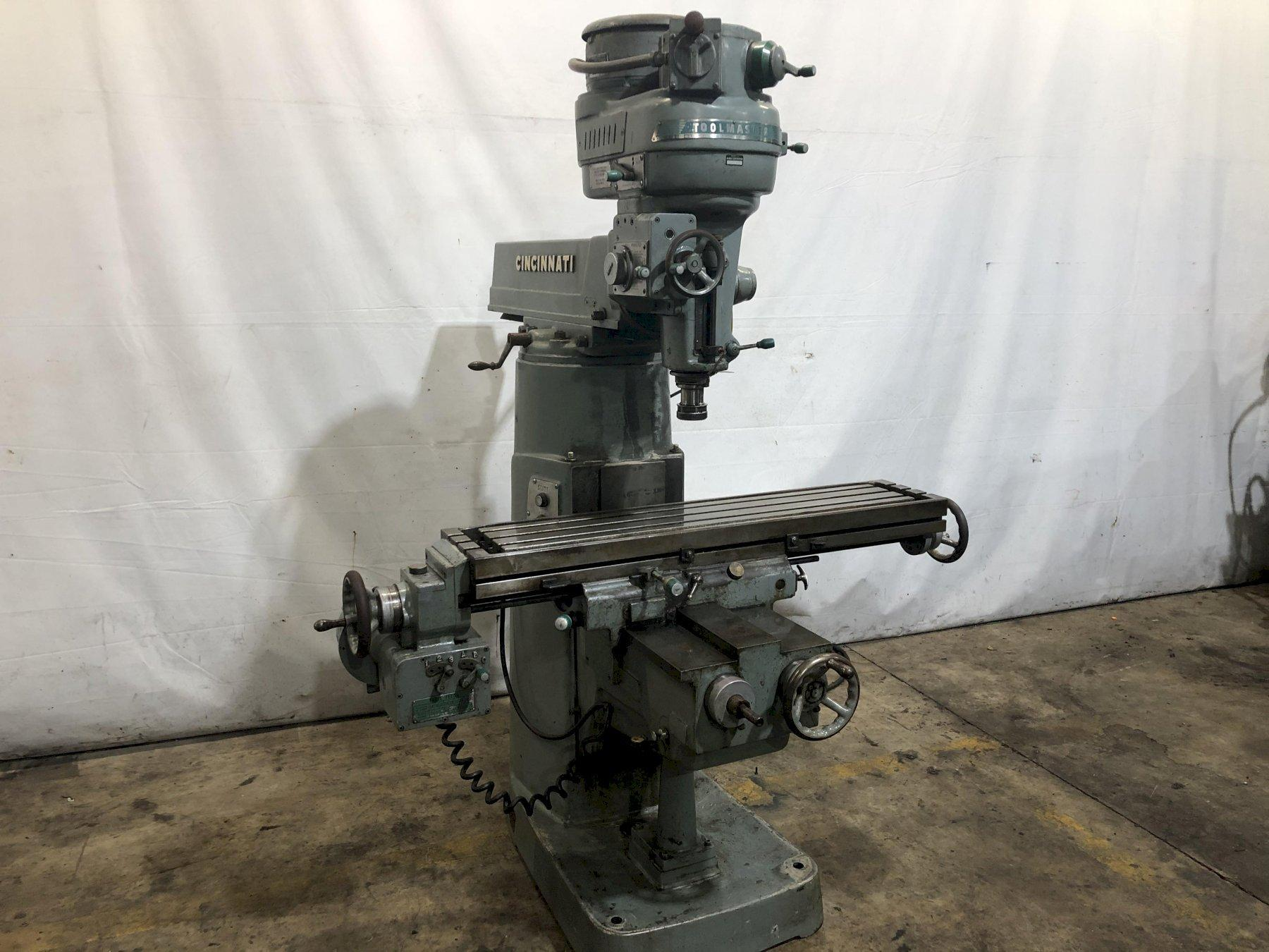2 HP CINCINNATI TOOLMASTER  VERTICAL RAM TYPE MILL: STOCK #13767
