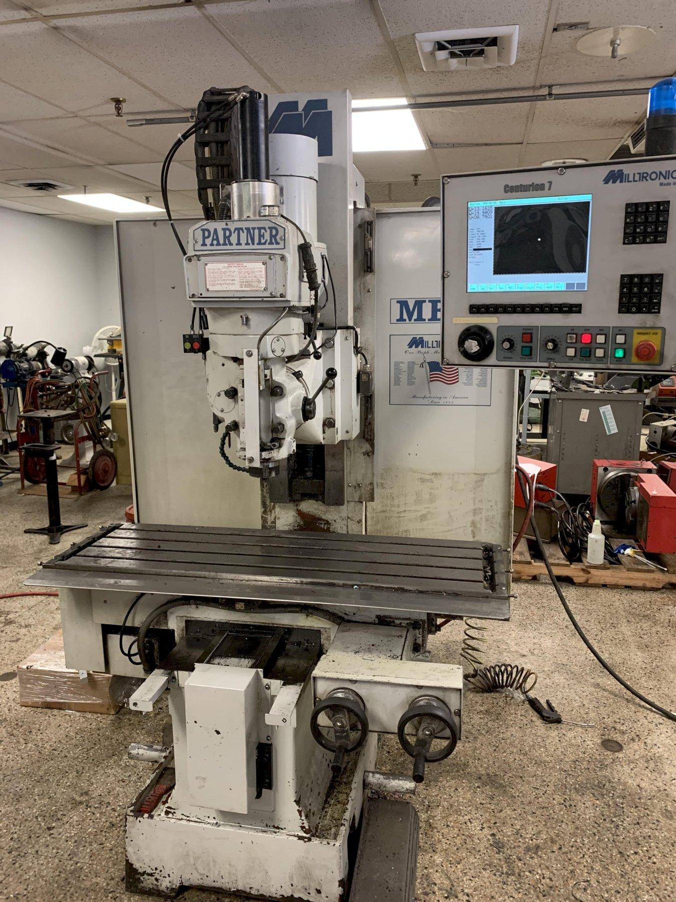 Milltronics MB19 3-Axis CNC Vertical Bed Mill, S/N 8942, New 2005.