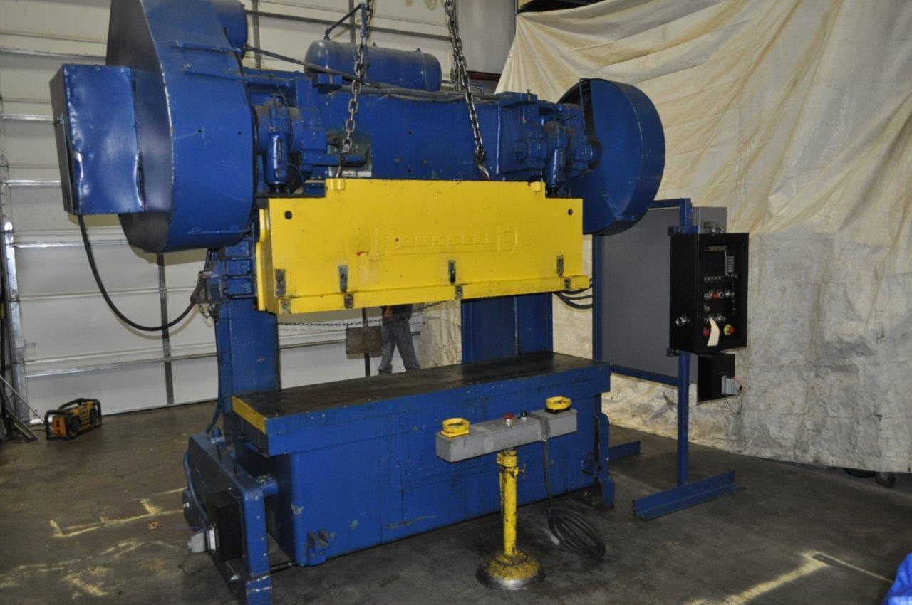80 Ton Rousselle Double Crank Gap Frame Press