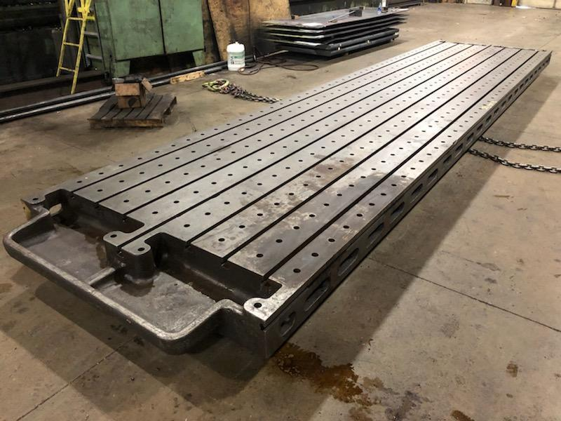 "260"" X 68"" X 8.25"" STEEL T SLOTTED TABLE: STOCK 12032"