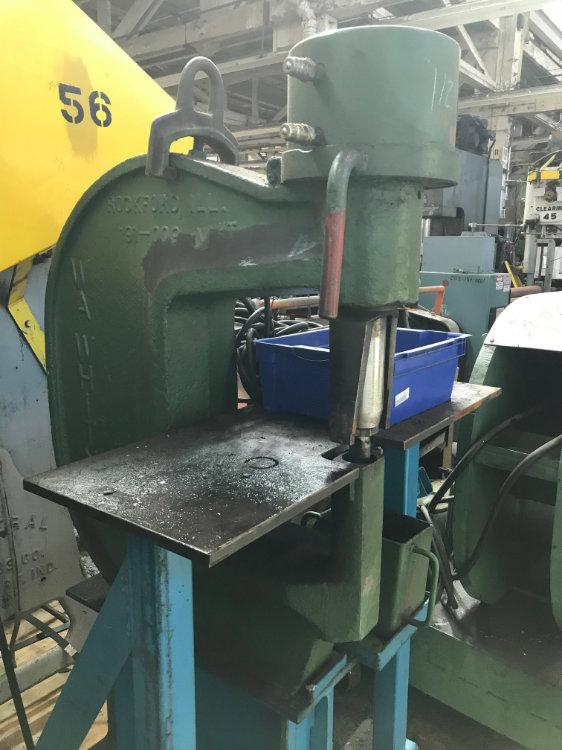 USED W.A. WHITNEY WEB PUNCH PRESS, Model , 90 Tons, Stock No. 10384