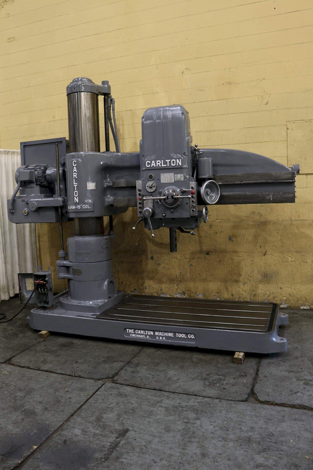 6' X 15' CARLTON RADIAL ARM DRILL: STOCK #72865