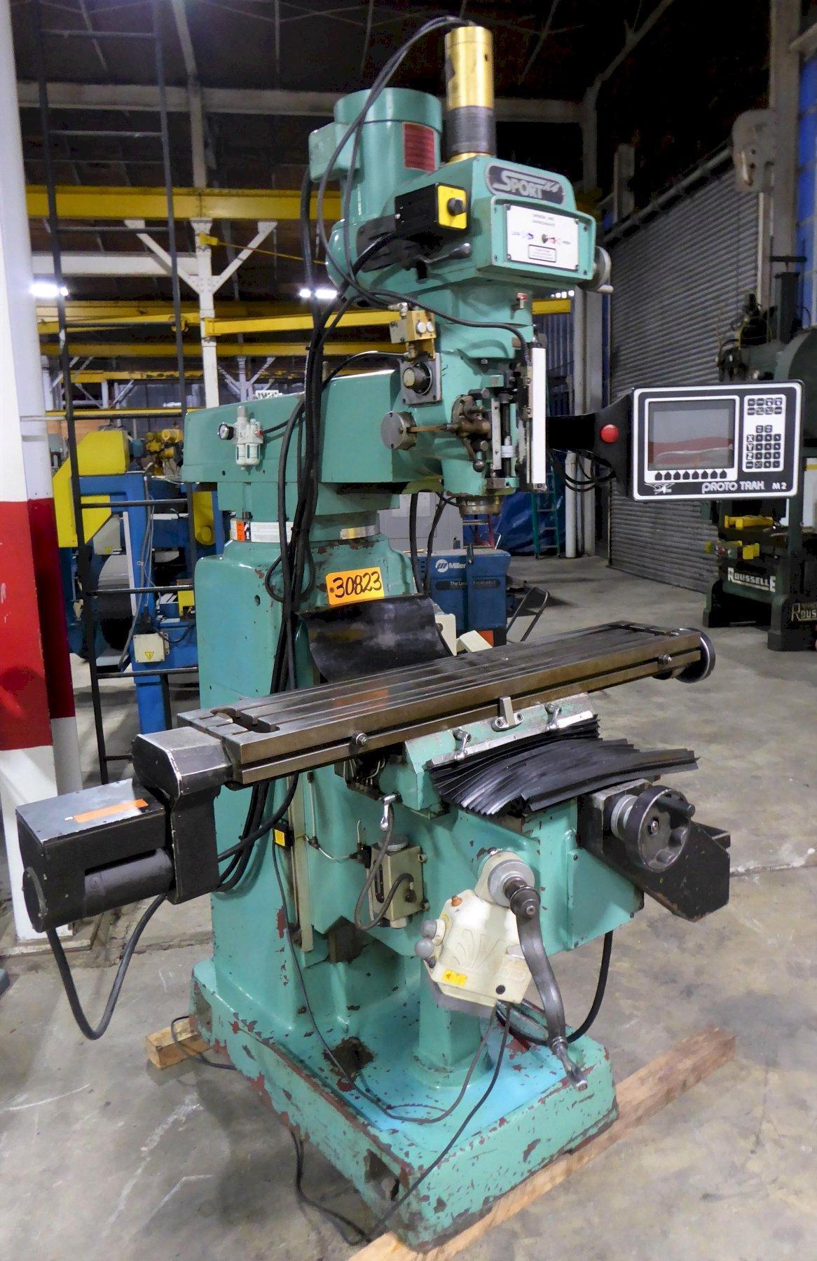 SWI Sport K4 CNC Mill, 10″ x 50″ Tbl., 40 Taper, MX2 Control, 5 HP