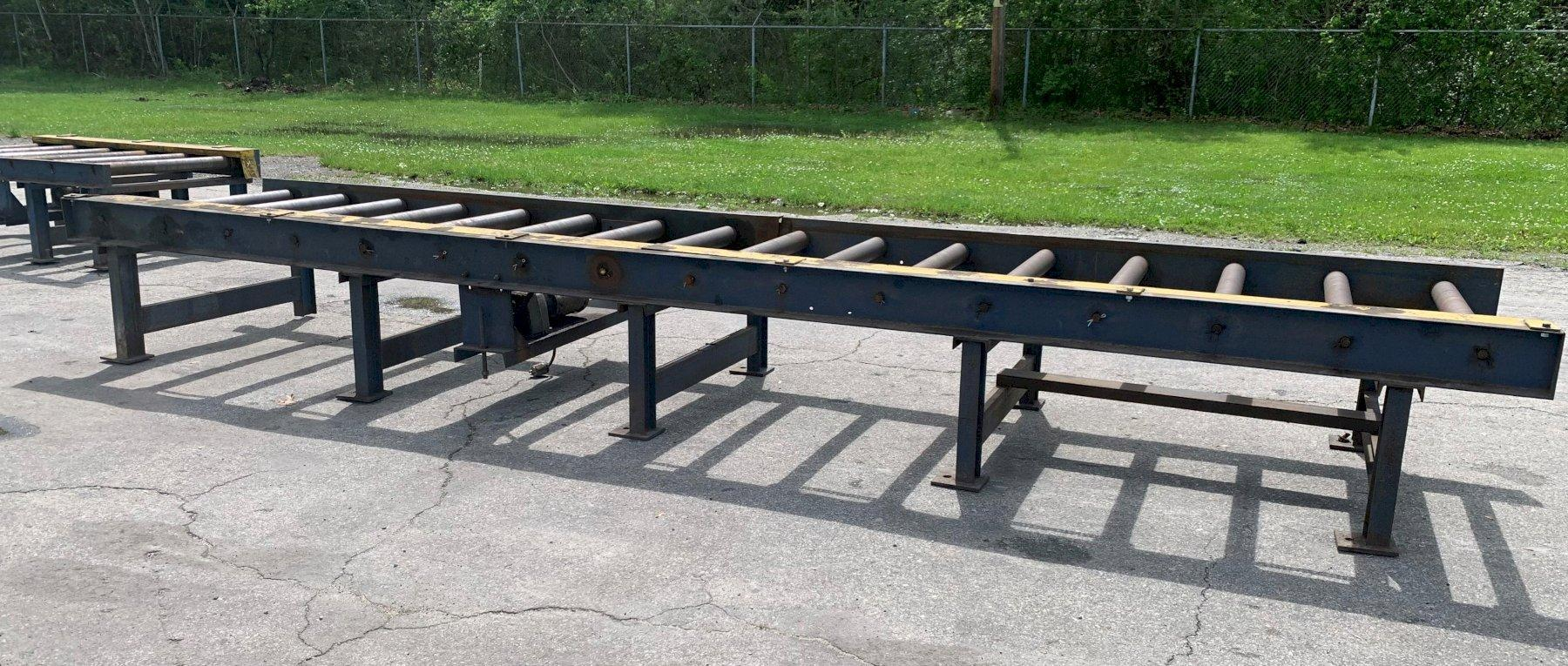 "40"" WIDE HEAVY DUTY CHAIN DRIVEN POWERED ROLLER CONVEYOR: STOCK #12946"