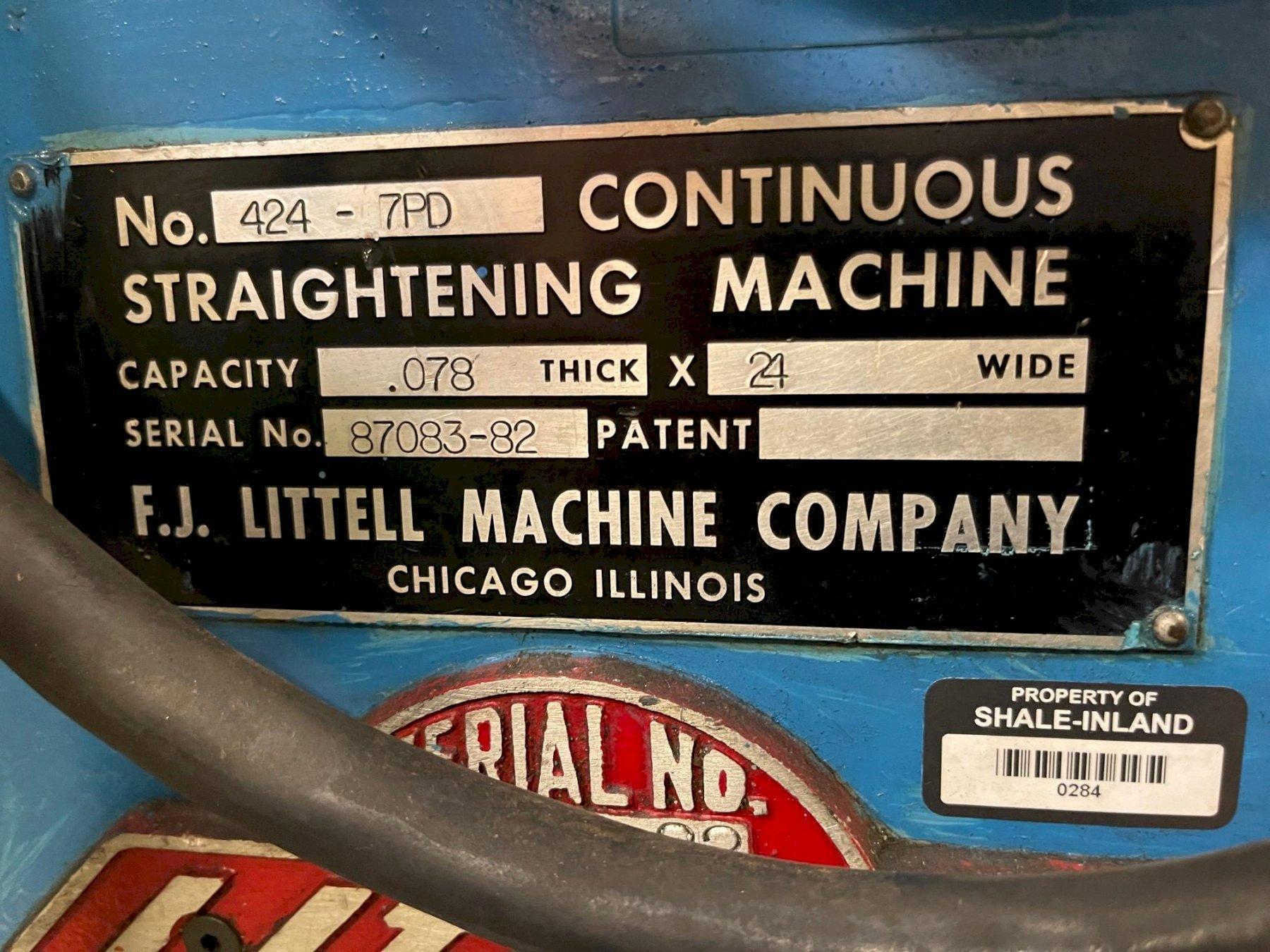 """24"""" Littell Powered Straightener Model# 424-7PD"""