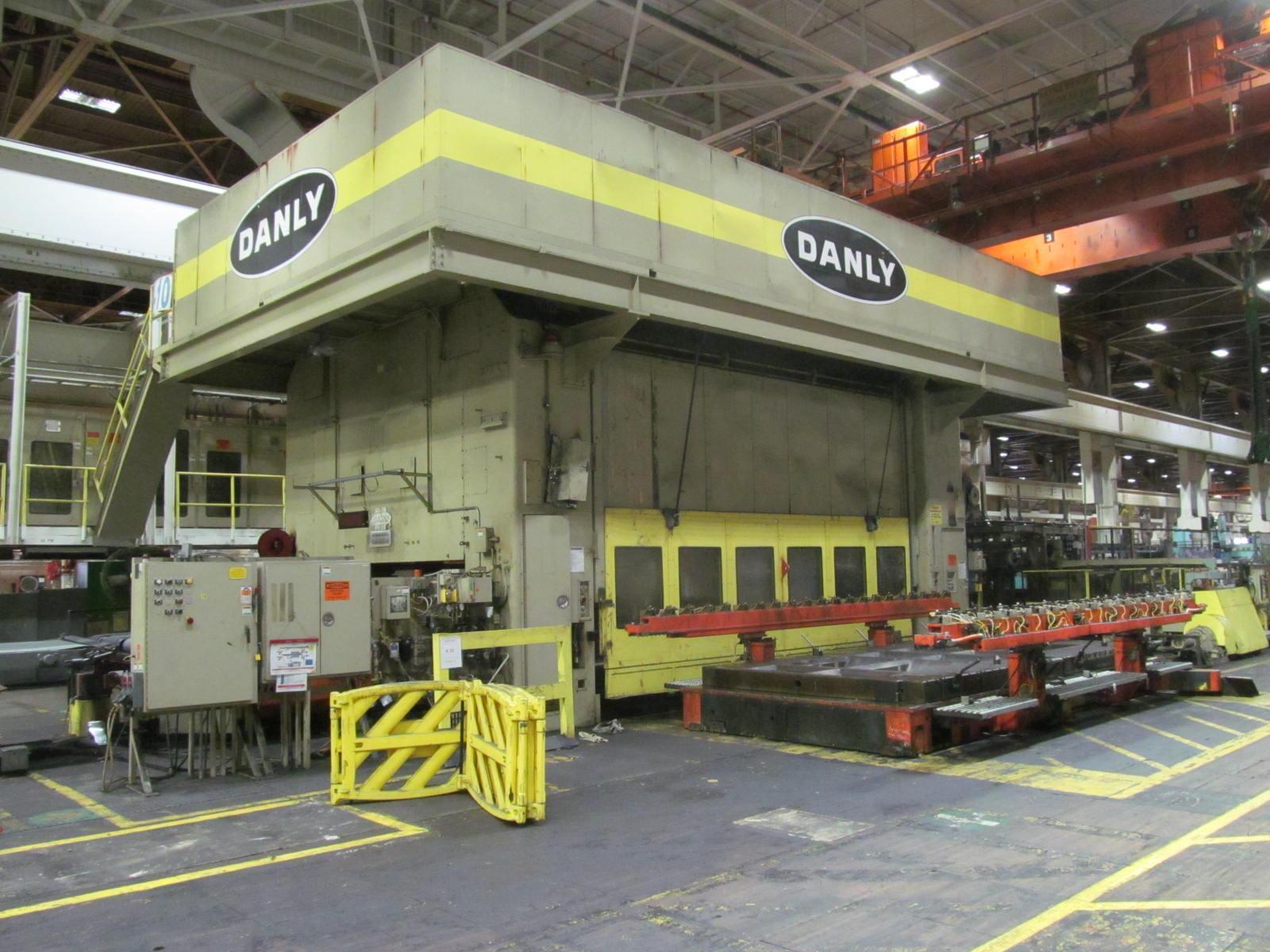"""2000 TON DANLY TRANSFER PRESS, MODEL TS4-2000-216-108TF, 30"""" STR, 79"""" SH, 2"""" ADJ, 216"""" X 108"""" BA, 12-24 SPM VARI"""