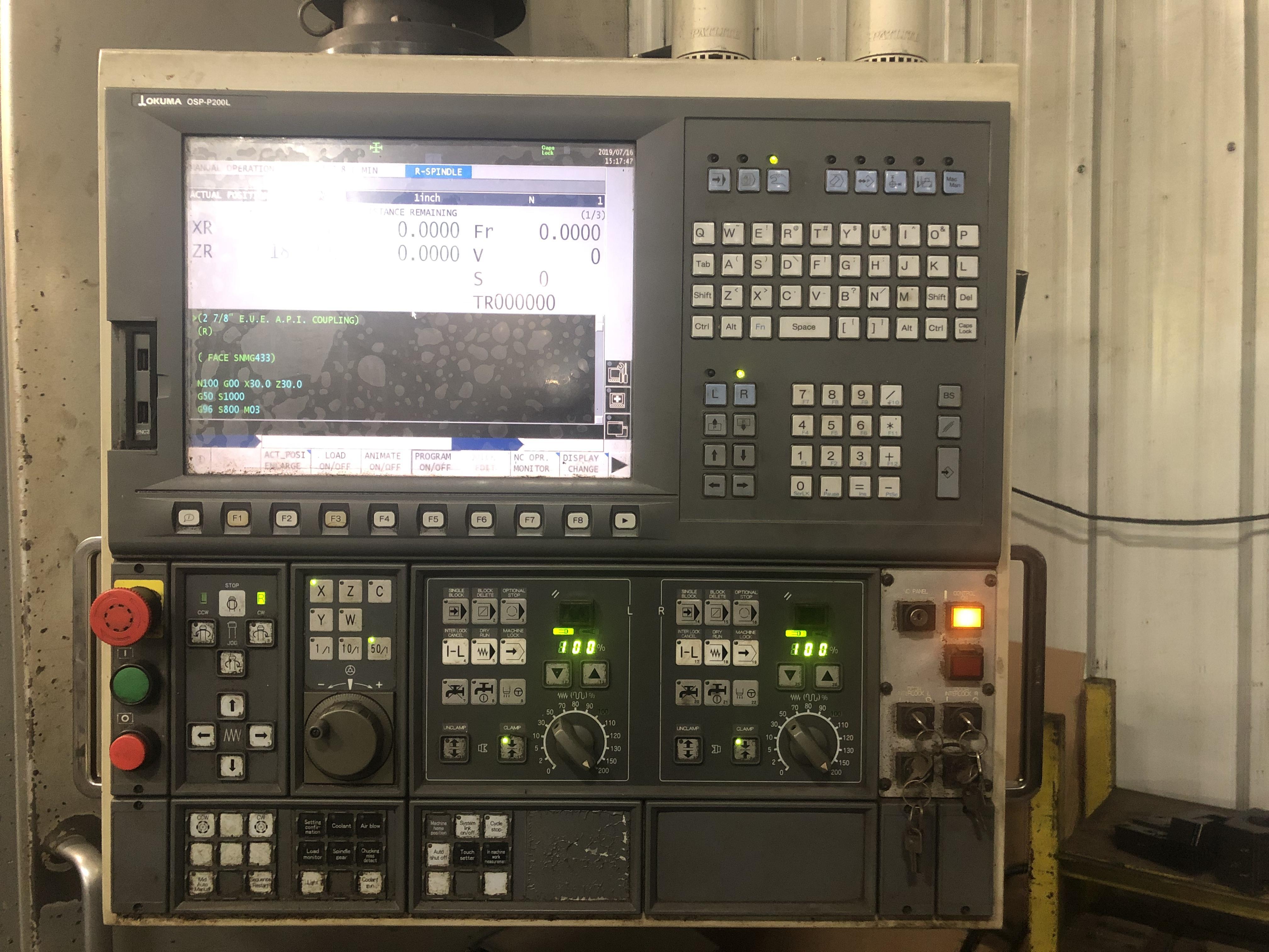 2011 Okuma 2SP-V40 – CNC Vertical Turret Lathe | Tramar
