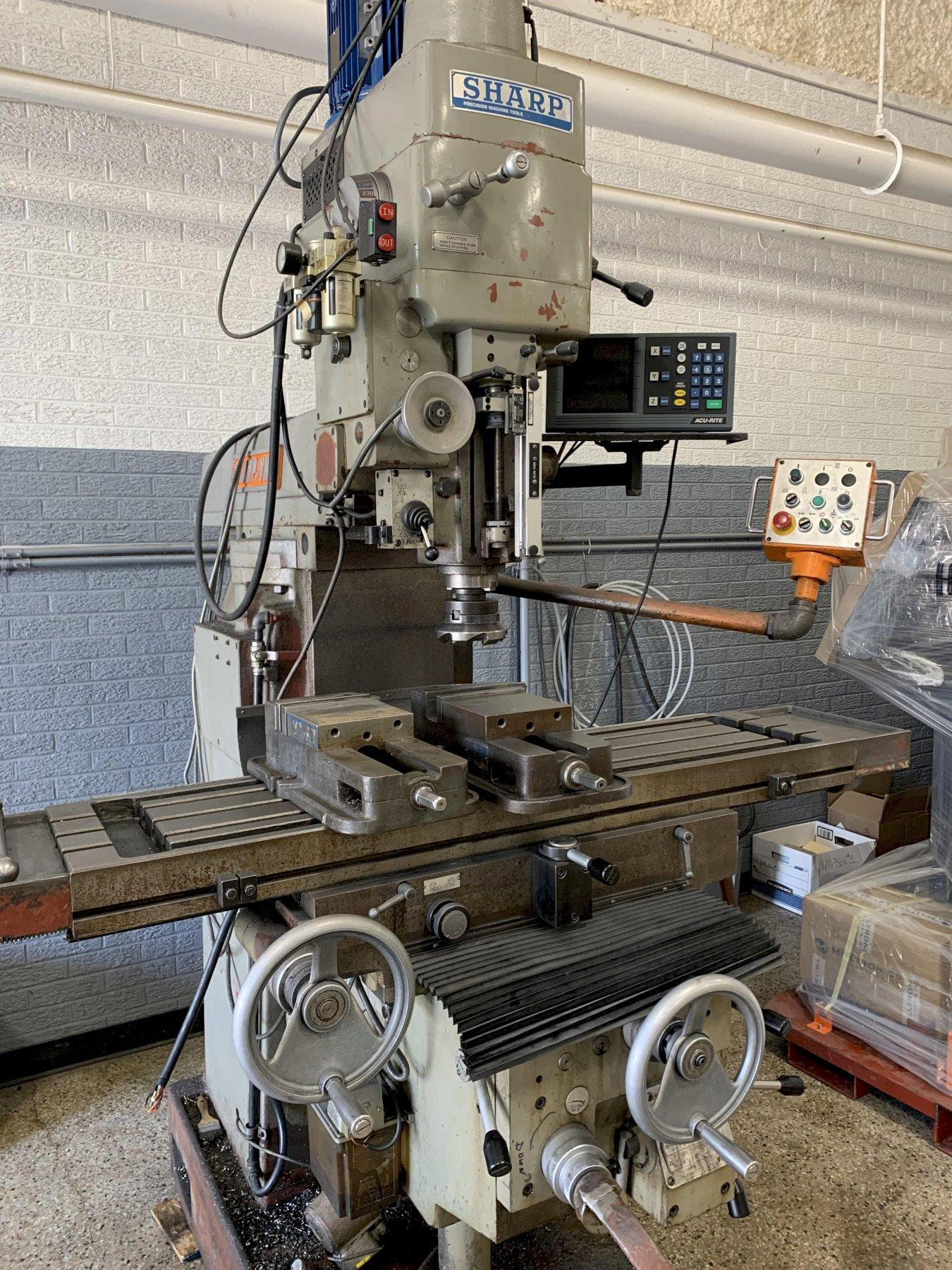 Sharp KF-V3 Heavy Duty Vertical Milling Machine, S/N 93007.