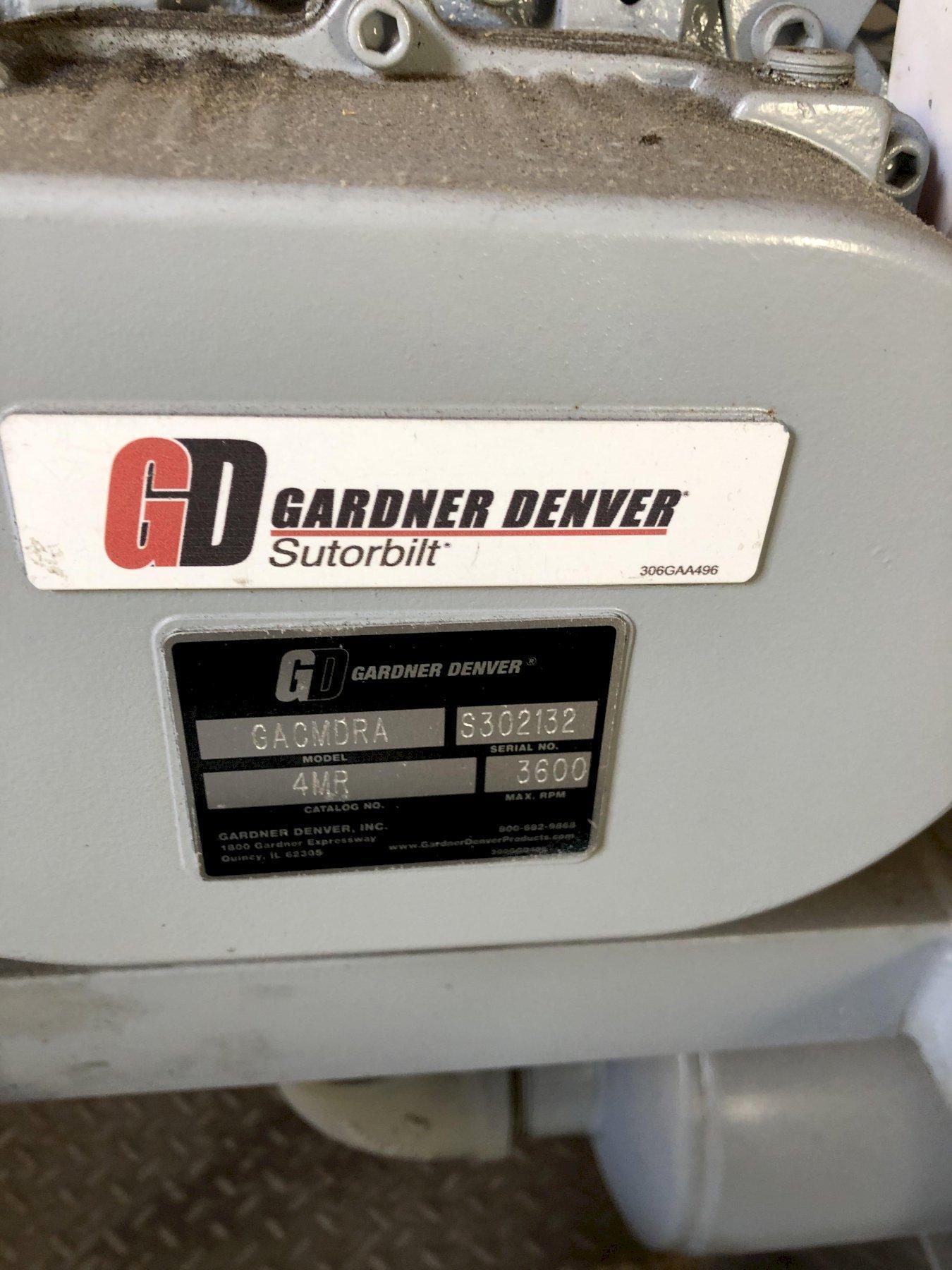 2009 Gardner Denver Sutorbilt model gacmdra blower s/n s302132 with 20 hp motor