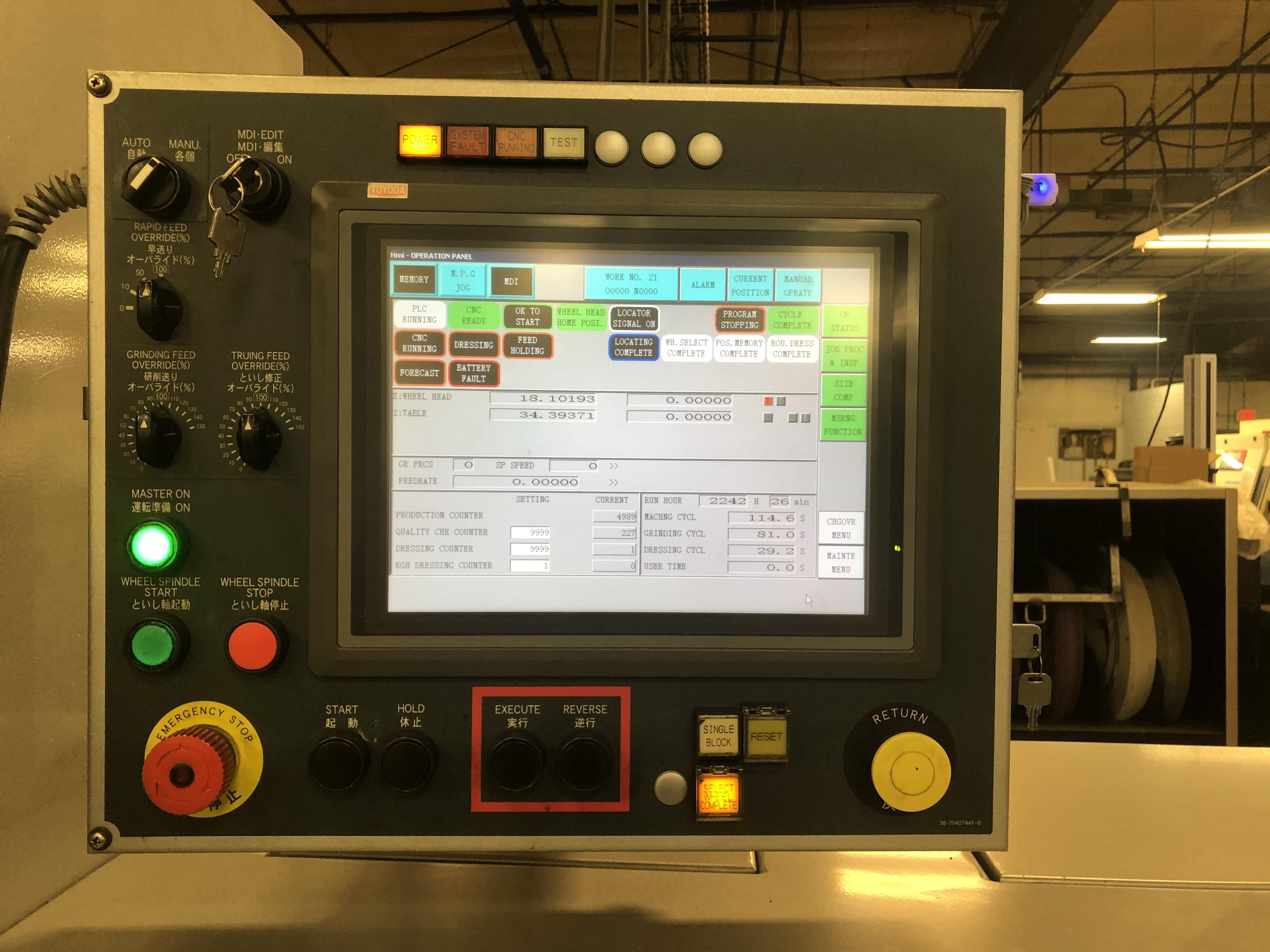 2012 Toyoda Select G-100 II - CNC Cylindrical OD/ID Grinder