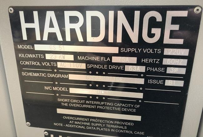"""HARDINGE GS-51MS, Fanuc Oi CNC Control, Collet Chucks on Main & Sub Spindle, 18"""" Max Swing, 10"""" Machining Diameter, 16"""" Machining Length, 2"""" Thru Hole, 5000 Max Main Spindle RPM, 6000 Max Sub-Spindle RPM, C-Axis, Rigid Tapping, New 2016."""