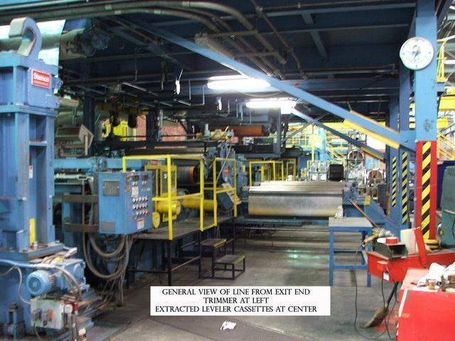 """65"""" x .025"""" Stamco Aluminum Tension Level Line 1995"""