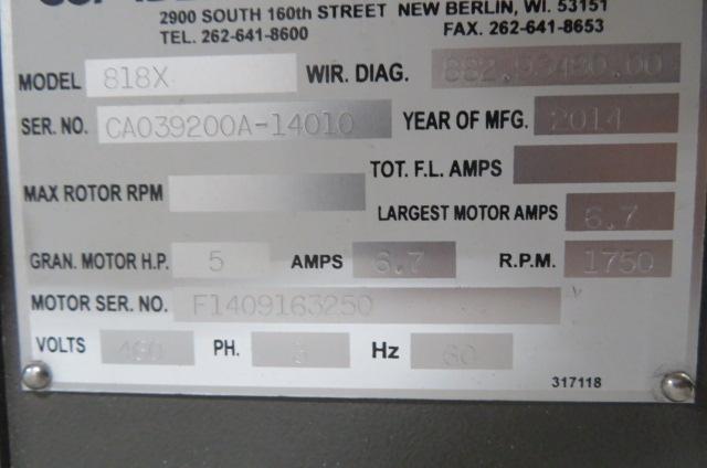 Cumberland Used 818X Used Granulator, 5hp, 460V,  Yr 2014