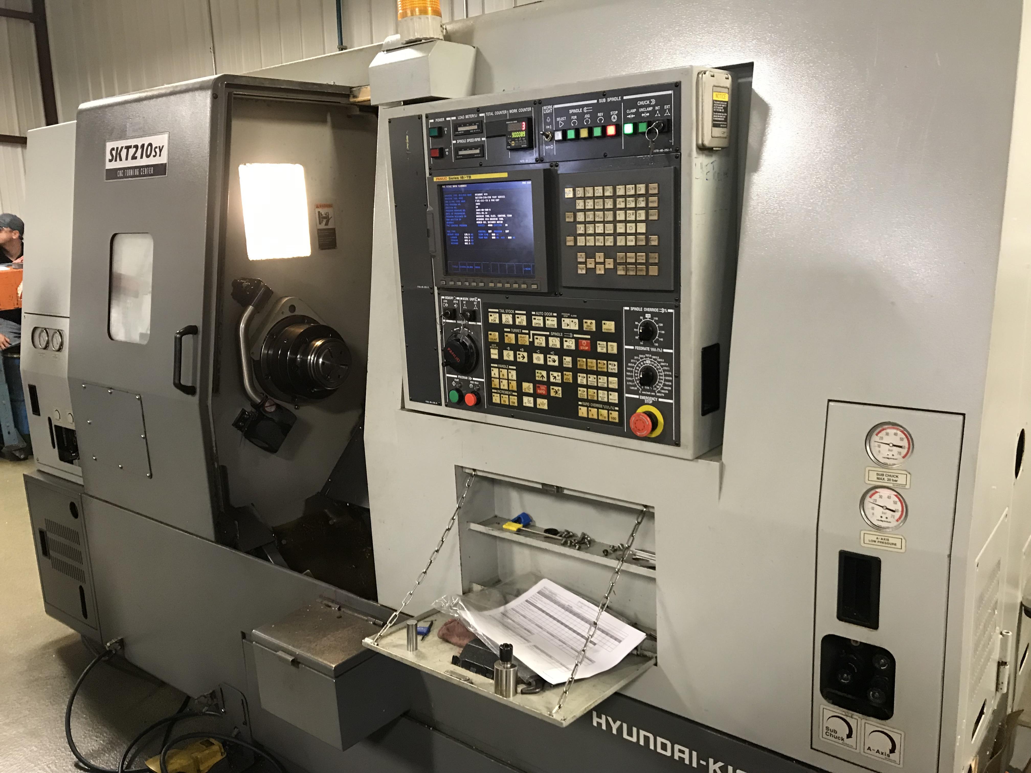 Hyundai Kia SKT210SY CNC Lathe, 8