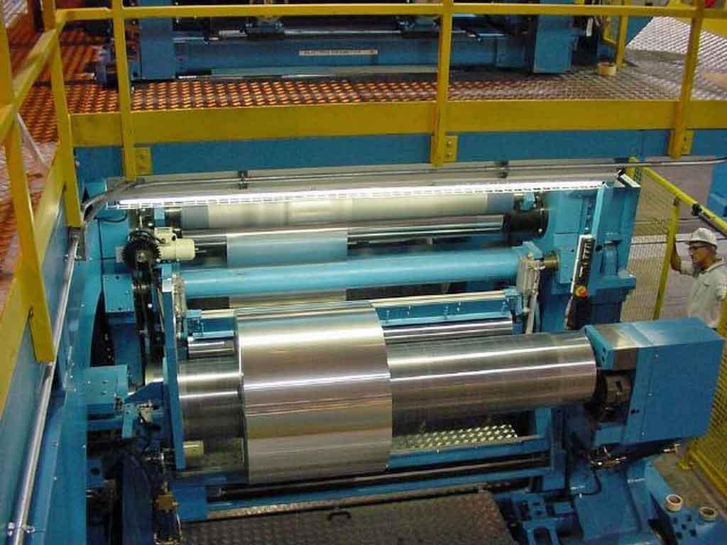 "69"" x 0.015"" Kampf Aluminum Slitting Line"