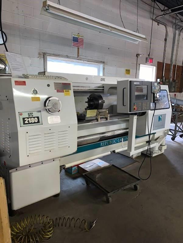 "21"" X 80"" REPUBLIC LAGUN 2180 CNC 2-AXIS FLATBED LATHE. STOCK # 1057820"