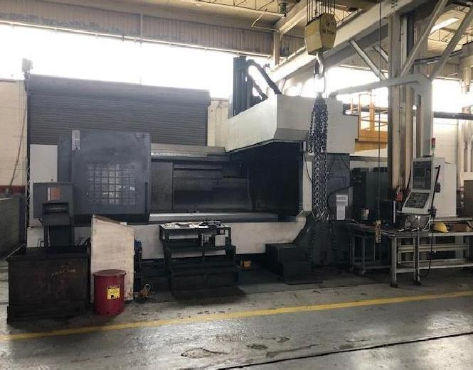 YCM DCV4025B CNC Bridge-Style CNC Vertical Machining Center, Fanuc MBX200FB, 160