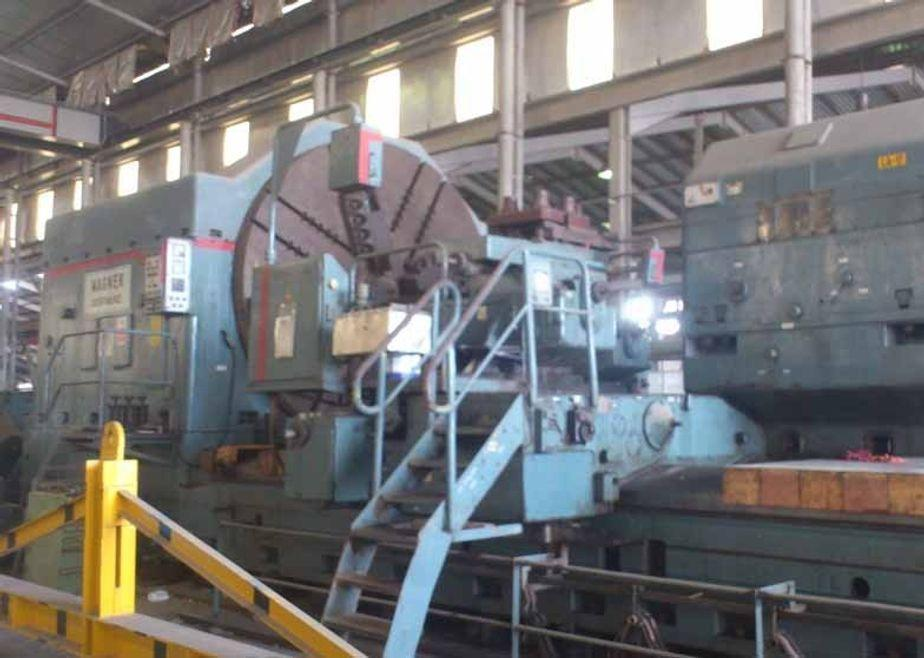 """142"""" X 866"""" WAGNER BANK-710 HEAVY DUTY WIDE BED ENGINE LATHE. STOCK # 0736921"""