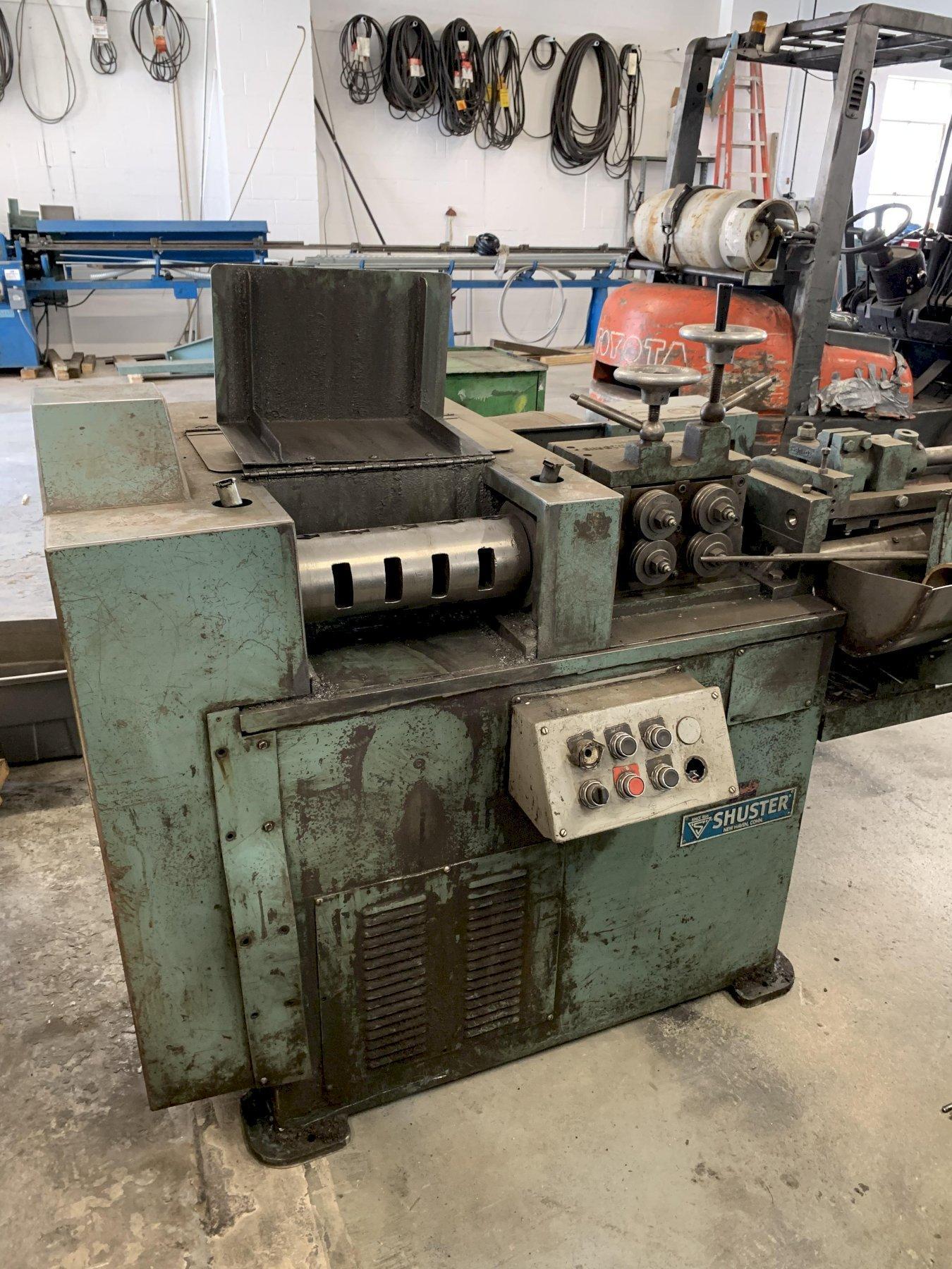 "5/16"" Shuster Model 2A4V Wire Straighten & Cutoff Machine"