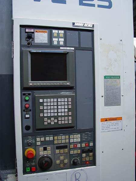 "MORI SEIKI VL-25 Mori MSC-518 ( Fanuc 16 ) CNC Control, 10"" Chuck, 23"" Swing, 17.7"" Max Turning Diameter, 18.2"" Max Turning Height, New 1998."