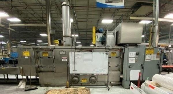 "24"" X 24"" X 24"" 3-STAGE RANSOHOFF HEATED IN LINE CONVEYOR BELT WASHER: STOCK #14192"