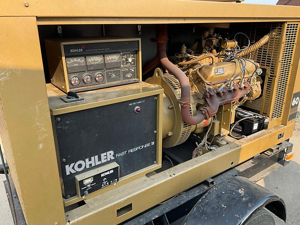 1 - PREOWNED KOHLER FAST RESPONCE II PORTABLE GENERATOR, MODEL #: 60RZ251, S/N: 189468