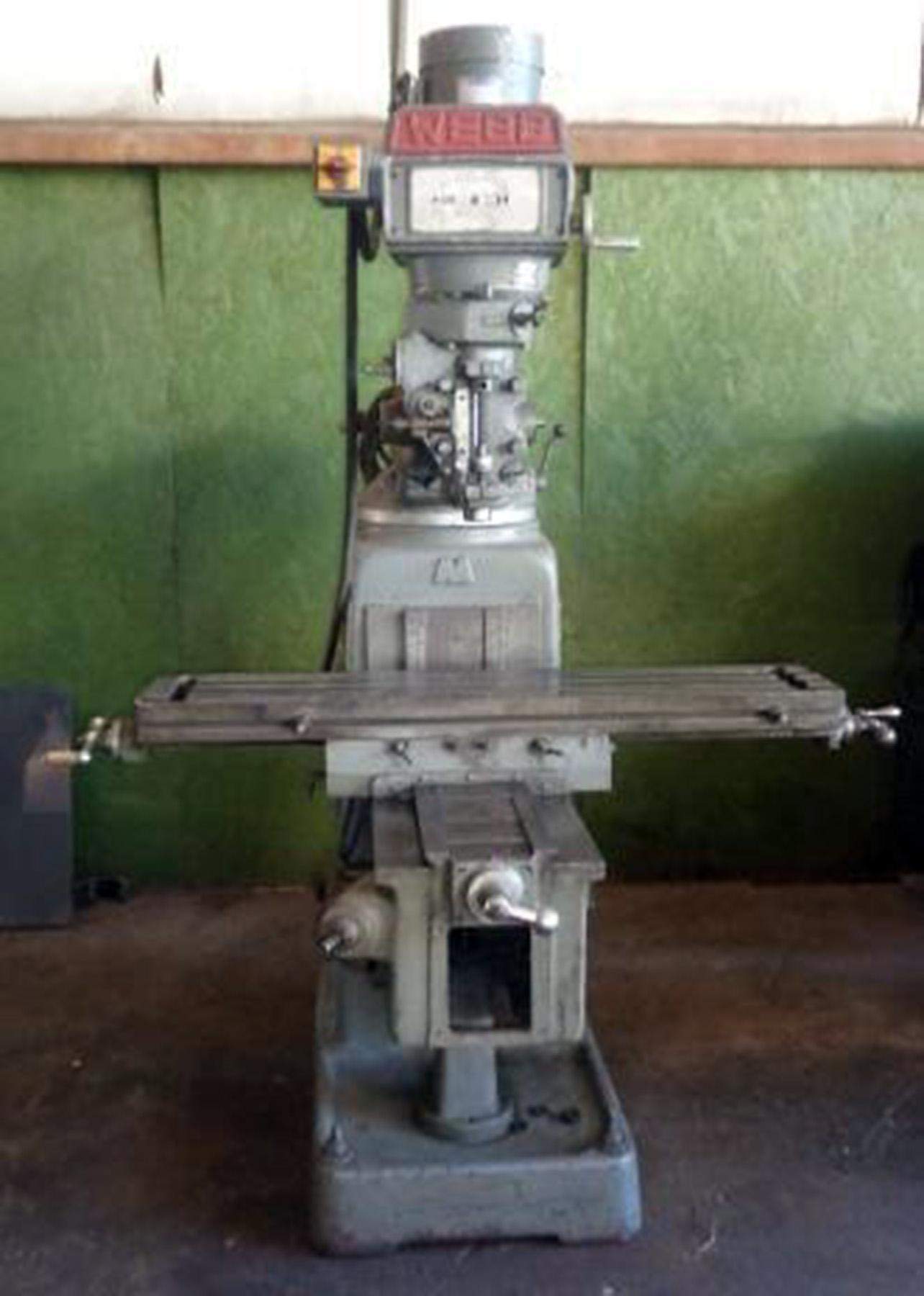 "USED, 10"" X 50"" WEBB CHAMP 3-VH VERTICAL MILLING MACHINE"