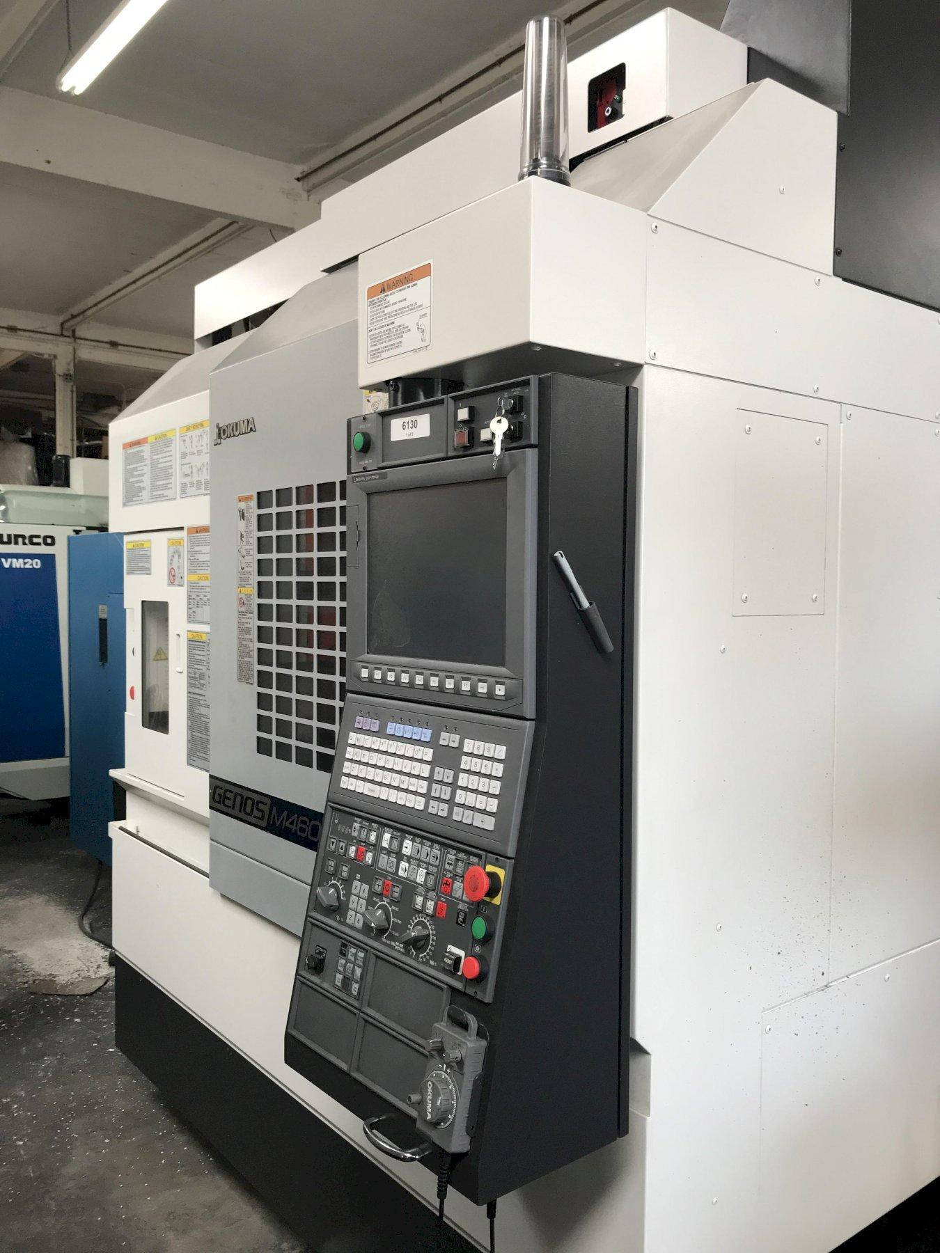 Okuma Genos M460-VE VMC 2016, with: Okuma OPS-P300M Control, and Chip Conveyor.