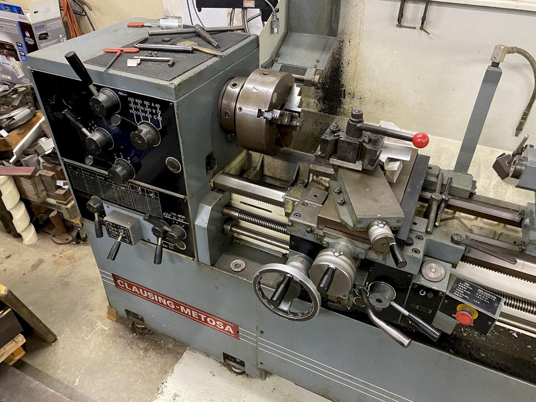 "16"" X 65"" CLAUSING METOSA C1565LC ENGINE LATHE. STOCK # 0634921"