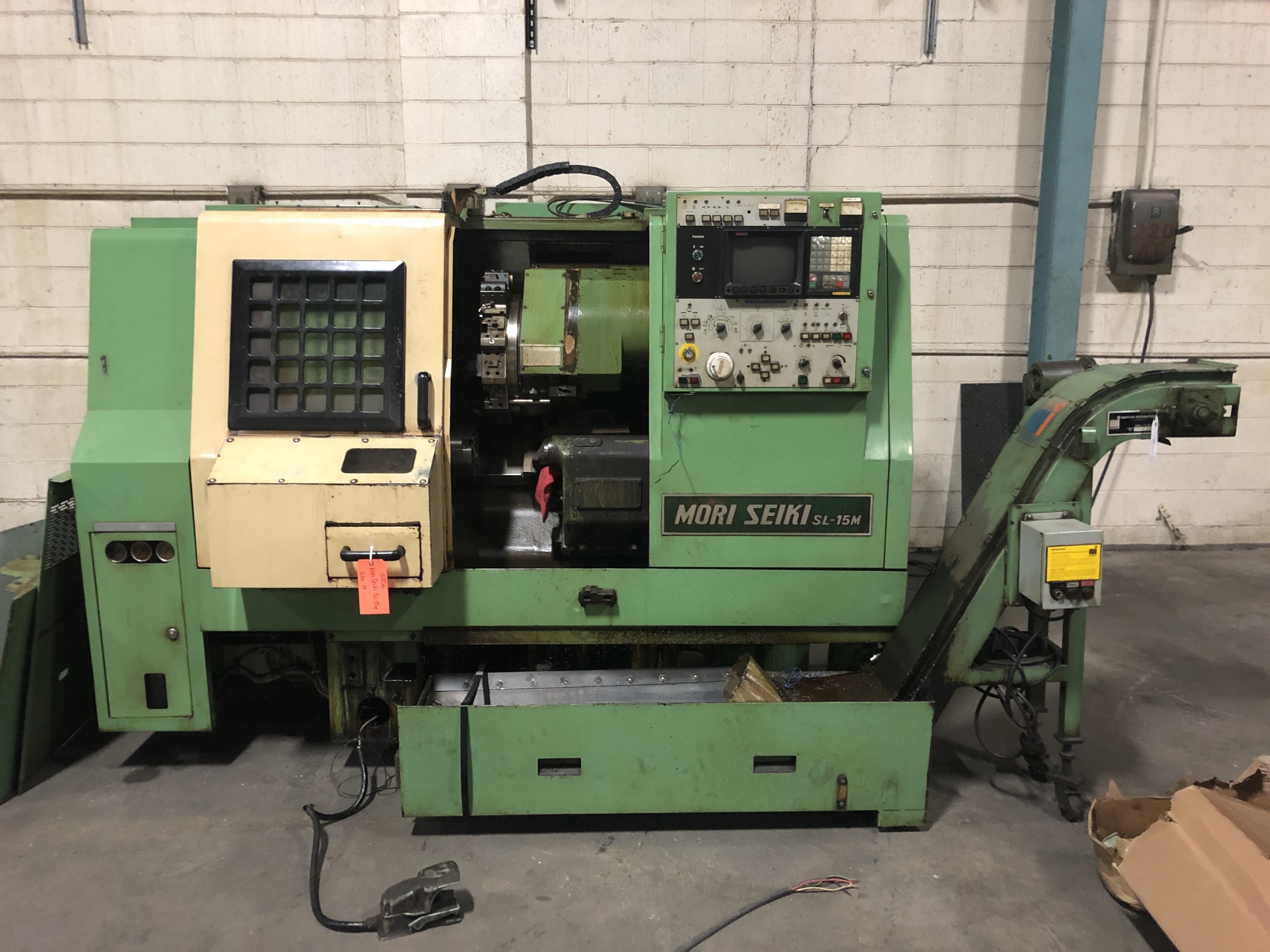 Mori Seiki SL-15M CNC Lathe, Fanuc 10T Control, 6