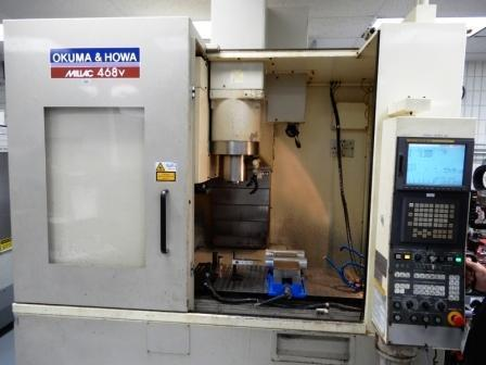 """OKUMA HOWA MILLAC 468V CNC VERTICAL MACHINING CENTER, Fanuc 16 Control, 41"""" x 18"""" Table, Travels: X= 31"""",Y=17"""", Z= 16"""", (30) Automatic Tool Changer, 12K Max RPM, New 2003."""