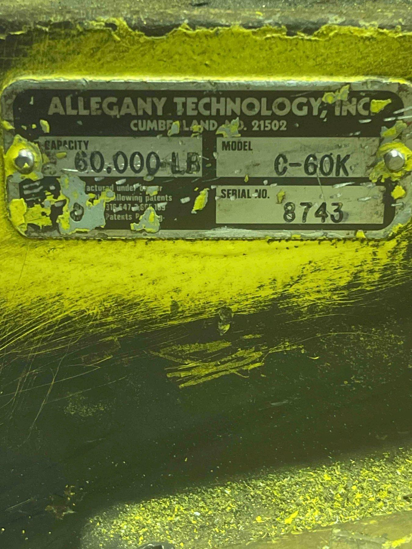 Allegany Technology 60,000 LB   Crane Scale Model C-60K S/N 8743 with remote control